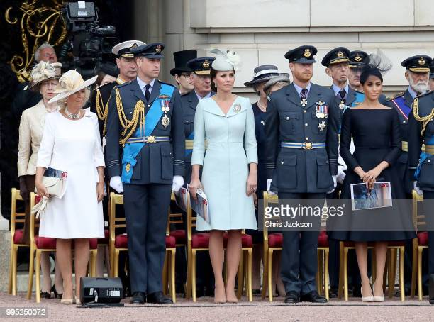 Camilla Duchess of Cornwall Prince William Duke of Cambridge Catherine Duchess of Cambridge Prince Harry Duke of Sussex and Meghan Duchess of Sussex...