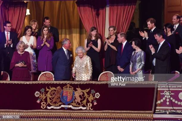 Camilla Duchess of Cornwall Princess Eguenie Princess Beatrice Prince Charles Prince of WalesLady Louise Windsor Sophie Countess of Wessex Prince...
