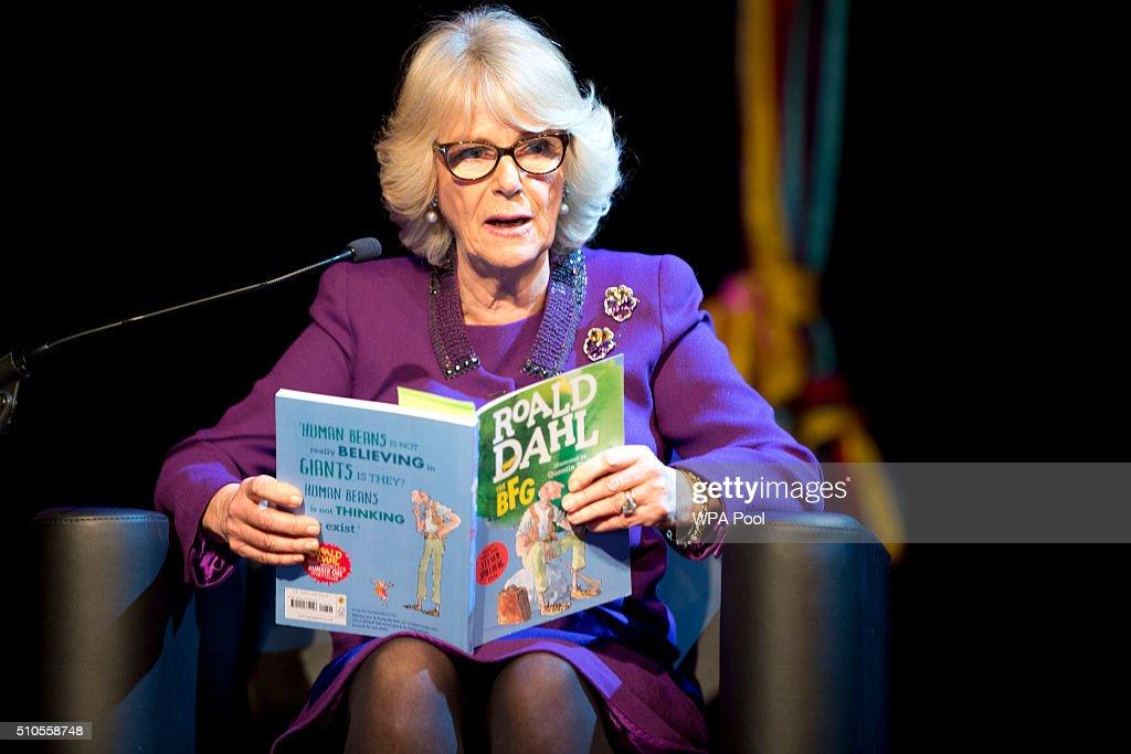 The Duchess Of Cornwall Visits 'The Wondercrump World Of Roald Dahl' : News Photo