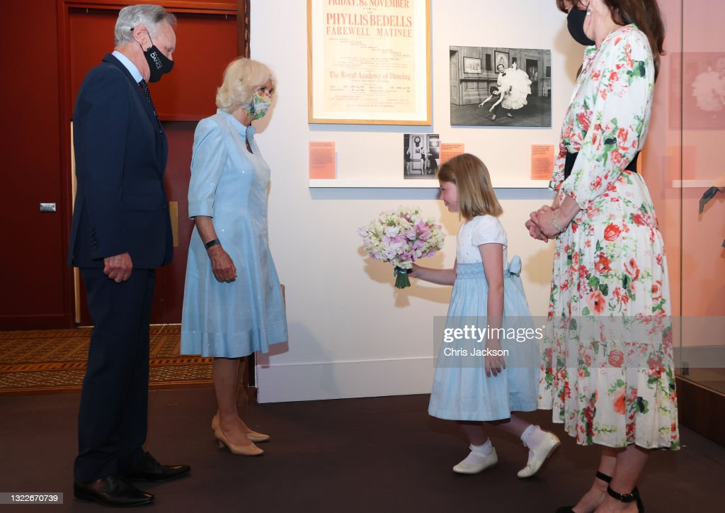 """The Duchess Of Cornwall Visits """"On Point: Royal Academy Of Dance At 100"""" At The V&A : News Photo"""