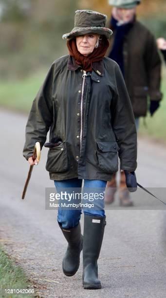 Camilla, Duchess of Cornwall seen out walking near Sandringham House on November 24, 2006 in King's Lynn, England.
