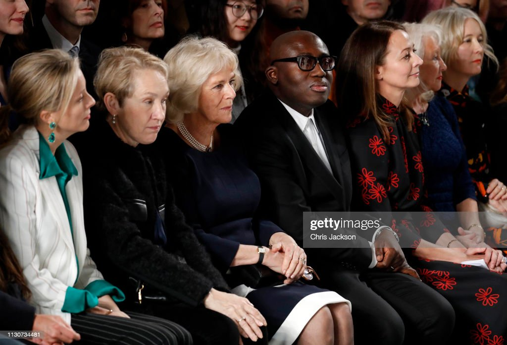 GBR: The Duchess Of Cornwall Visits London Fashion Week