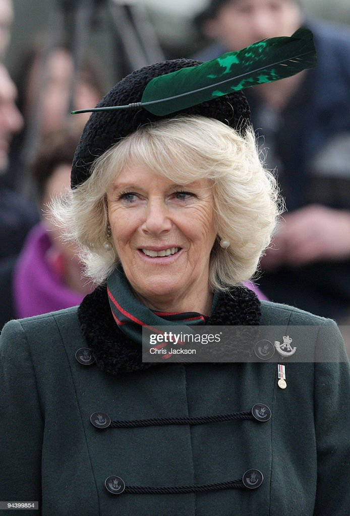 Duchess Of Cornwall Presents Campaign Medals To 4th Battalion The Rifles : News Photo