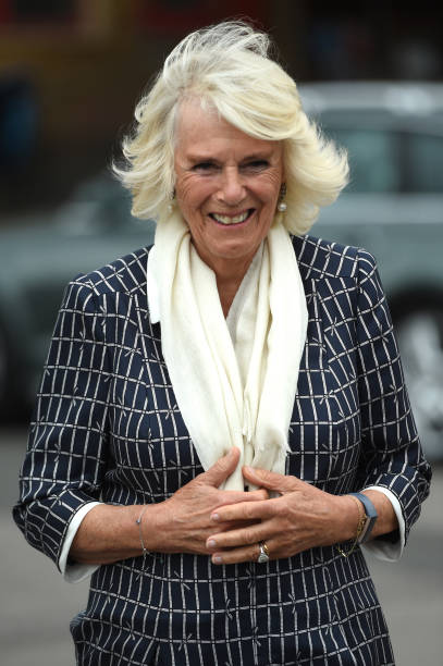 GBR: The Duchess Of Cornwall Visits Swindon Fire Station And Swindon Borough Council