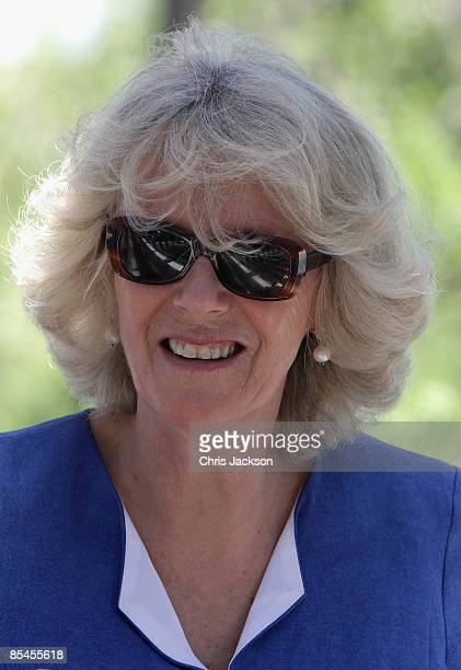 Camilla Duchess of Cornwall smiles during a tour of the Darwin Research Station on Santa Cruz Island on March 16 2009 in Galapagos Ecuador The Prince...