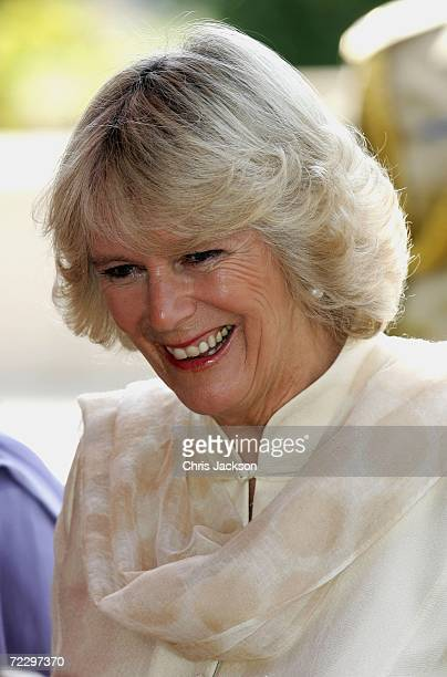 Camilla Duchess of Cornwall smiles whilst visiting a Youth Business International Event at the Prime Minister's House on day two of a week long tour...