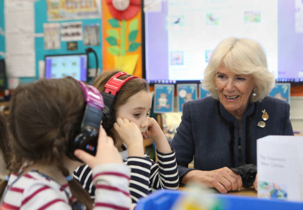 GBR: The Duchess of Cornwall On World Book Day