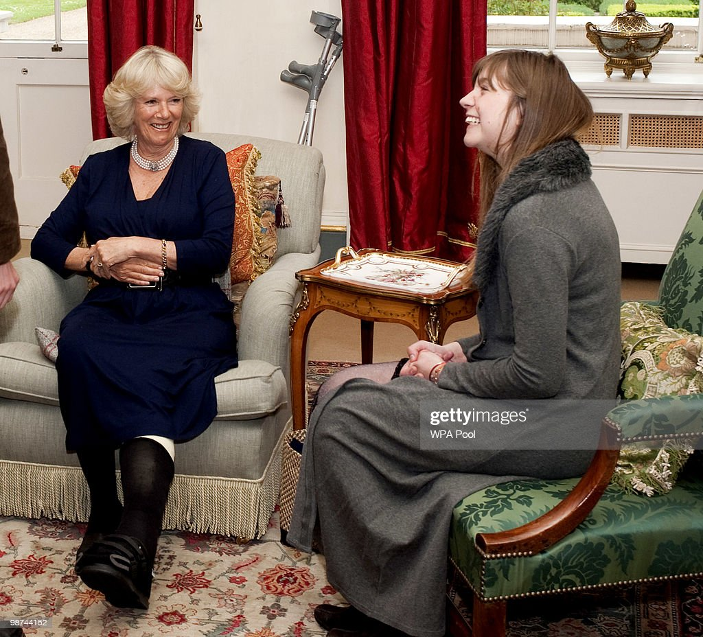 Duchess of Cornwall Meets Members of the Orange Prize Youth Panel : News Photo