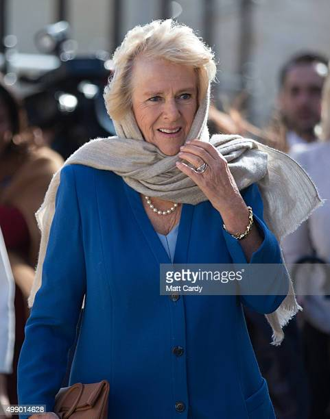 Camilla Duchess of Cornwall takes a walking tour of the old town of Mdina in central Malta on November 28 2015 near Valletta Malta Queen Elizabeth II...