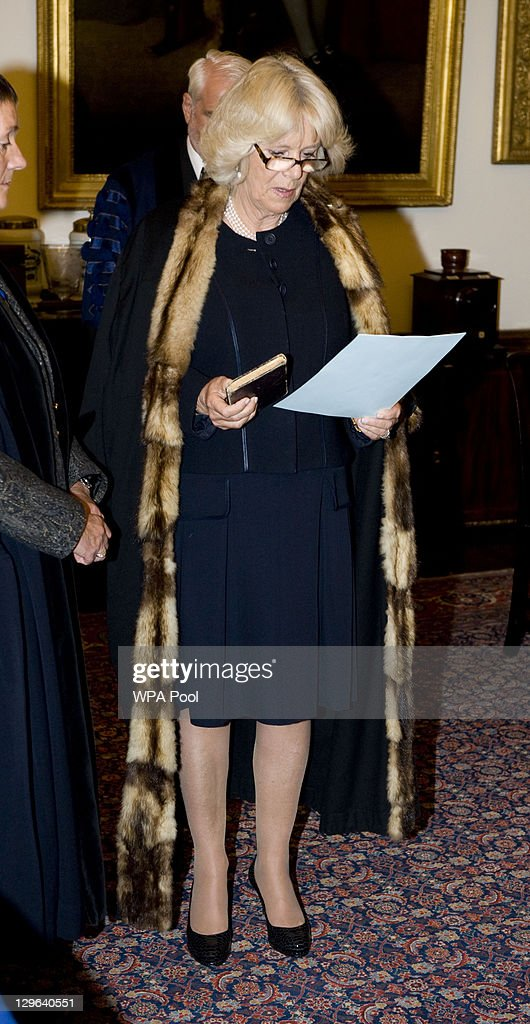 The Duchess of Cornwall Becomes Honorary Liveryman of the Worshipful Company of Joiners and Ceilers : News Photo