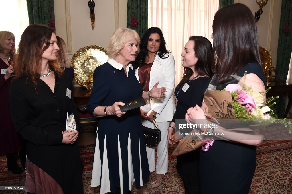 The Duchess Of Cornwall Hosts A Reception To Acknowledge The 15th Anniversary Of Domestic Abuse Charity SafeLives : News Photo