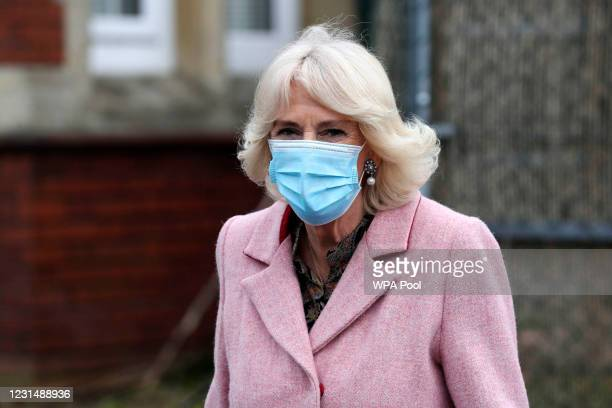 Camilla, Duchess of Cornwall The Duchess of Cornwall departs following a visit to the Community Vaccination Centre at St Paul's Church on March 3,...