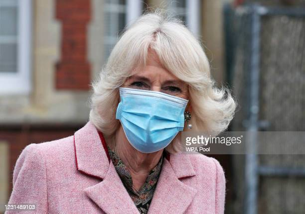 Camilla, Duchess of Cornwall The Duchess of Cornwall speaks with volunteers during a visit to the Community Vaccination Centre at St Paul's Church on...