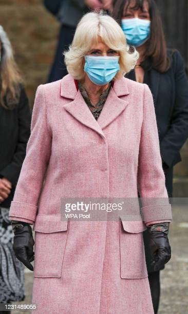 Camilla, Duchess of Cornwall The Duchess of Cornwall speaks with Dr. Shaikh R) during a visit to the Community Vaccination Centre at St Paul's Church...