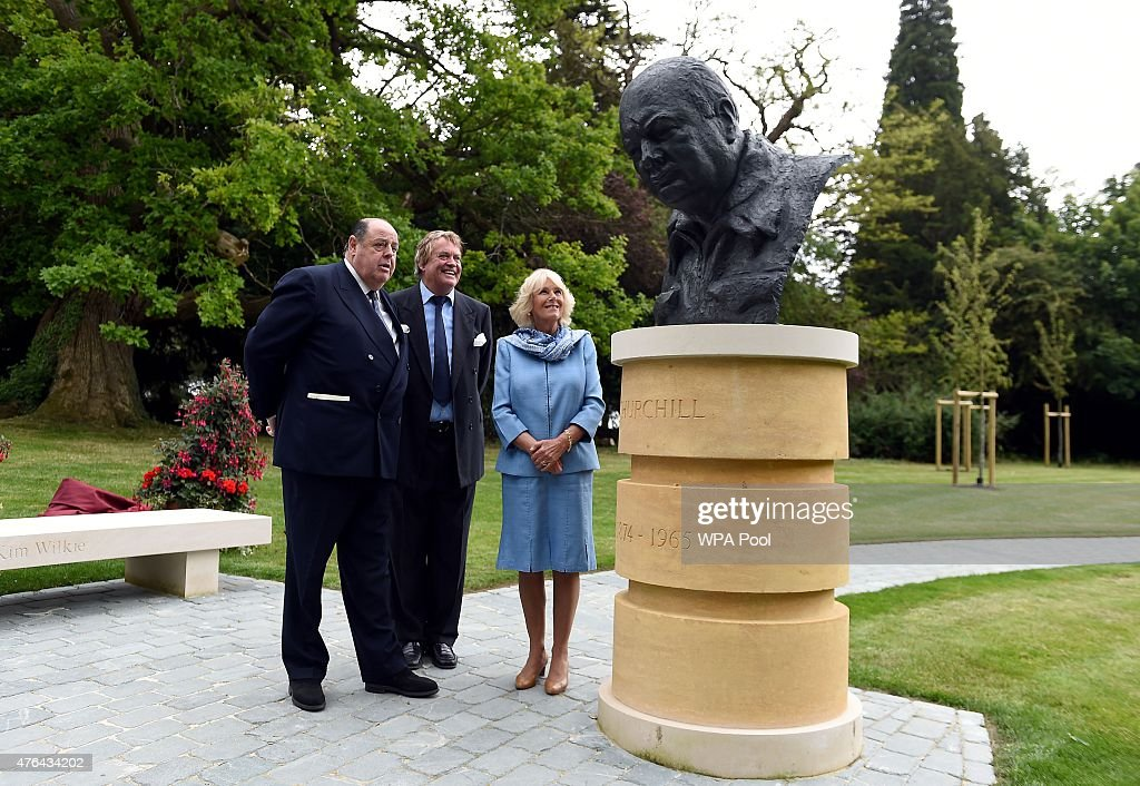 The Duchess Of Cornwall Commemorates The 50th Anniversary Of The Death Of Sir Winston Churchill : ニュース写真