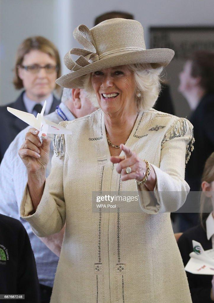 The Duchess Of Cornwall Visits RAF Halton : News Photo