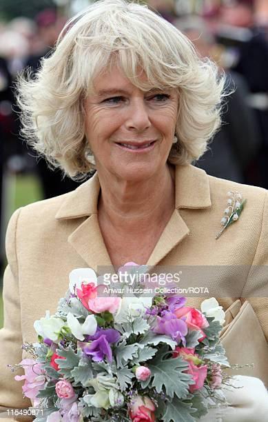 Camilla Duchess of Cornwall tours Sandringham Flower Show on the Sandringham Estate on July 25 2007 in Sandringham England