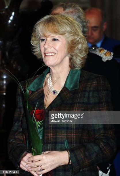 Camilla, Duchess of Cornwall tours St. Alban's Cathedral on January 26, 2006 in St Albans, England.