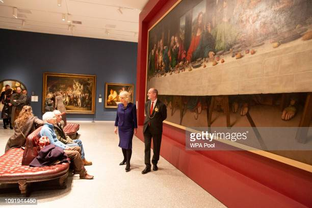 Camilla, Duchess of Cornwall views elements of the new Collection Gallery, including the reunion of two works by rival painters J.M.W. Turner and...