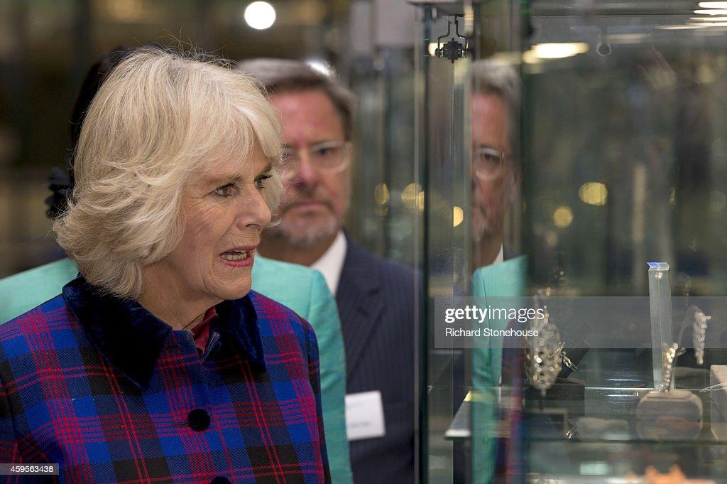 Charles & Camilla Visit School of Jewellery : News Photo