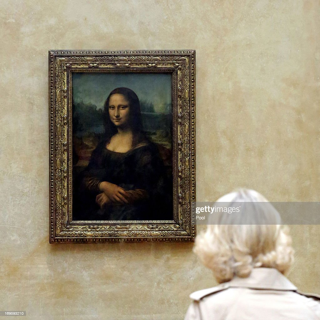 Camilla, Duchess Of Cornwall Visits The Louvre Museum On Her First Solo Overseas Engagement In Paris : News Photo