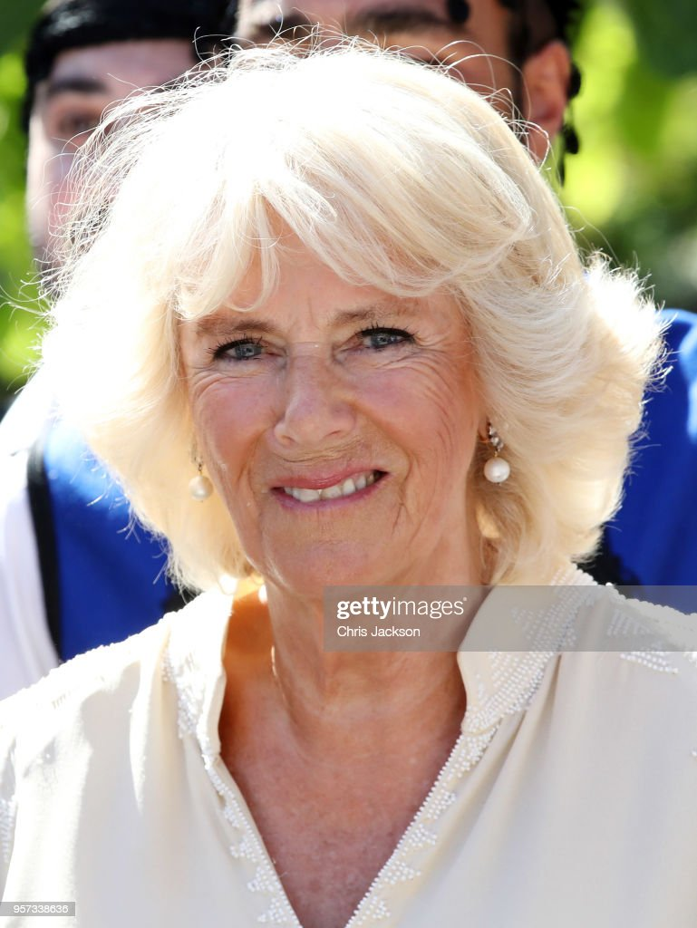 Camilla, Duchess of Cornwall visits Church Square on May 11, 2018 in Crete, Greece.