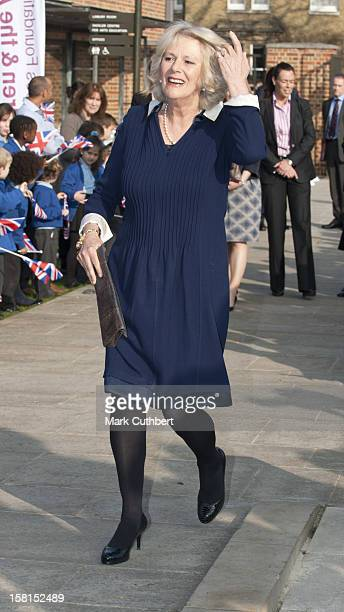 Camilla Duchess Of Cornwall Visits Dulwich Picture Gallery In Dulwich Village London As Part Of The Prince'S Foundation For Children The Arts Royal...