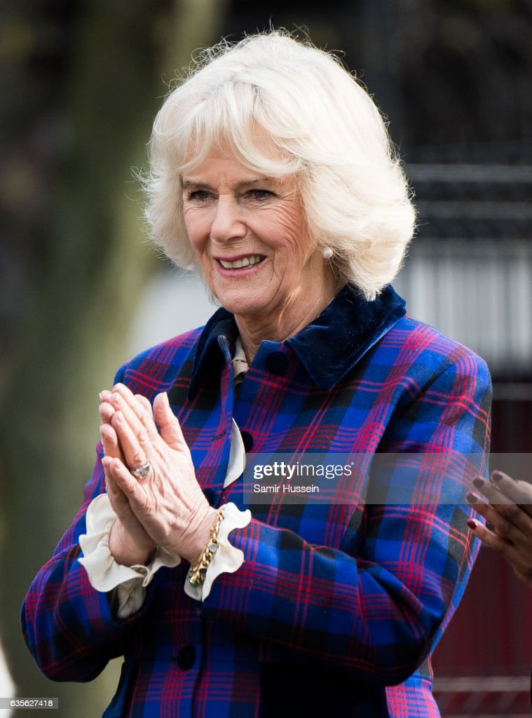 Camilla, Duchess of Cornwall visits Ebony Horse Club to celebrate the club's 21st anniversary on February 16, 2017 in London, England. on February 16, 2017 in London, England.