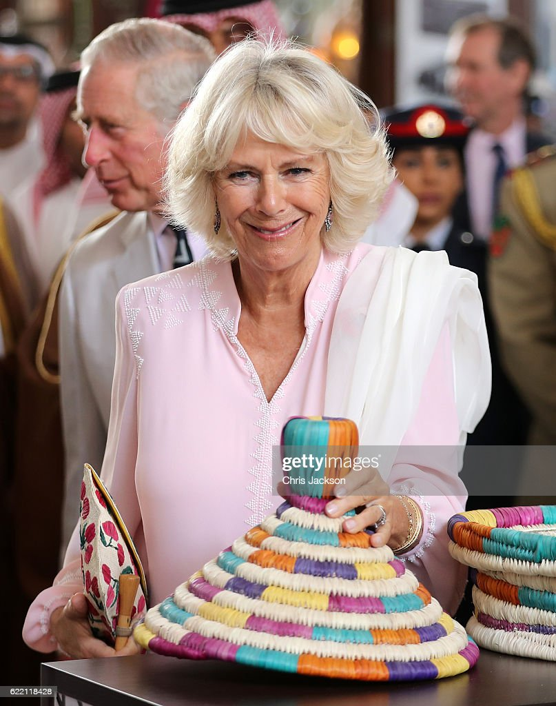 Camilla, Duchess of Cornwall visits Krishna Temple on November 10, 2016 in Manama, Bahrain. The Prince of Wales and the Duchess of Cornwall are on a Royal tour of the Middle East which began with Oman, the UAE and finally Bahrain.