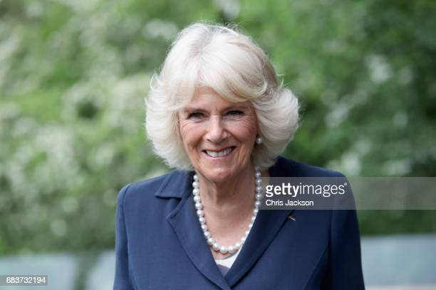 Camilla, Duchess of Cornwall visits Maggie's Oxford to see how the Centre supports people with cancer on May 16, 2017 in Oxford, England. During her...