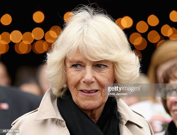 Camilla Duchess of Cornwall visits Oxmoor Farm on the fourth day of a visit to the United States on March 20 2015 in Louisville DC The Prince and...