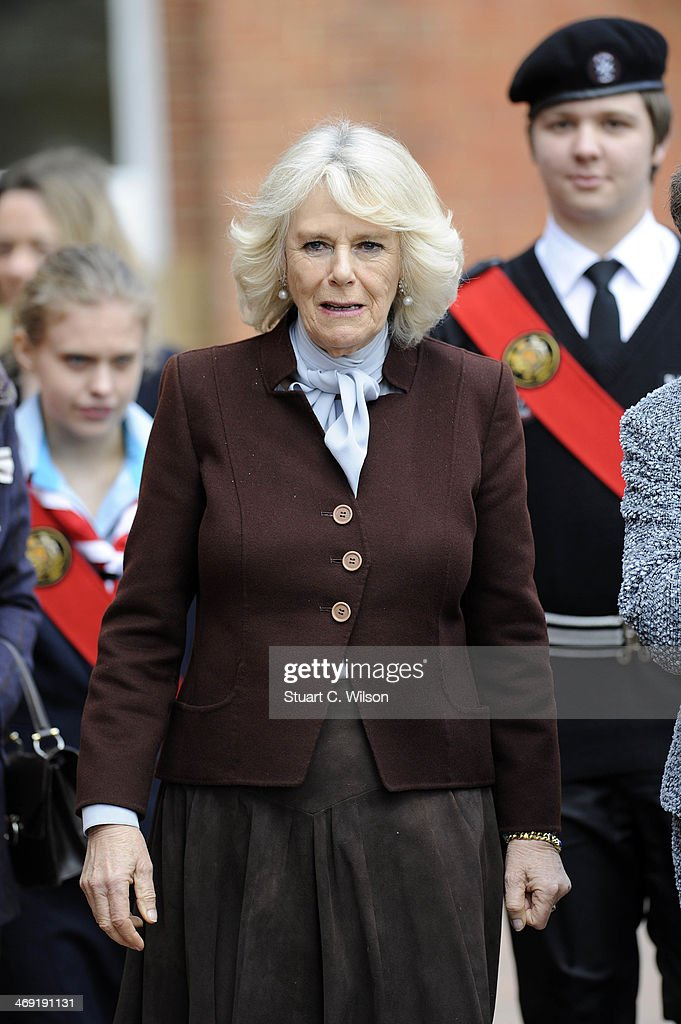 Camilla, Duchess Of Cornwall visits St Catherine's School in Bramley, Surrey on February 13, 2014 in Guildford, England.
