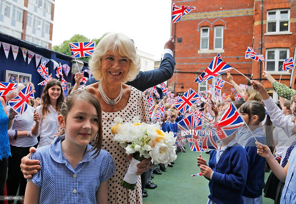 The Duchess Of Cornwall Visits St Peter's Eaton School : News Photo