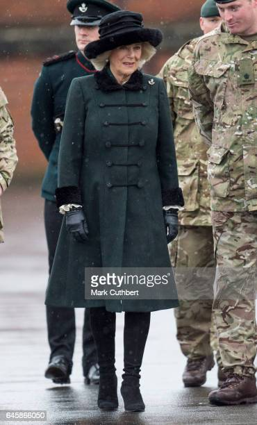 Camilla Duchess of Cornwall visits the 4th Battalion The Rifles on February 27 2017 in Aldershot England