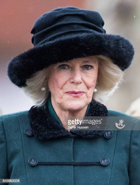 Camilla Duchess of Cornwall visits the 4th Battalion The Rifles to attend a homecoming parade and meet soldiers who have recently returned from a...