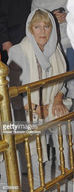 Camilla Duchess of Cornwall visits the Anadpur Sahib Gurdwara on the eighth day of a 12 day official tour visiting Egypt Saudi Arabia and India on...