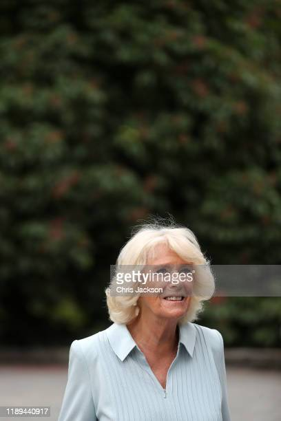 Camilla, Duchess of Cornwall visits the Christchurch Botanic Gardens on November 23, 2019 in Christchurch, New Zealand. The Prince of Wales and...