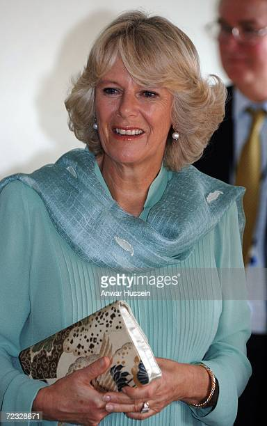 Camilla Duchess of Cornwall visits the Fatima Jinnah University on the third day of a week long tour of the country on October 31 2006 in Islamabad...