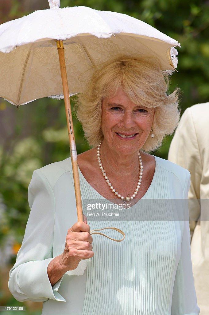 The Duchess Of Cornwall Visits Hampton Court Palace Flower Show : News Photo