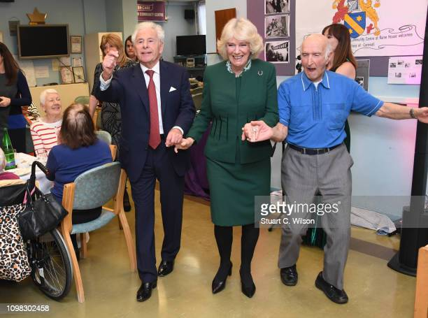 Camilla Duchess of Cornwall visits the Jewish Care's Brenner Centre in Stepney East London to commemorate its 80th anniversary on January 23 2019 in...