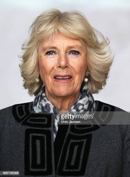Camilla Duchess of Cornwall visits the Lincoln Memorial on the second day of a visit to the United States on March 18 2015 in Washington DC The...