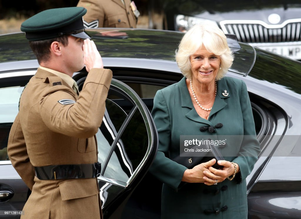 The Duchess Of Cornwall Visits The 4th Battalion The Rifles, Aldershot
