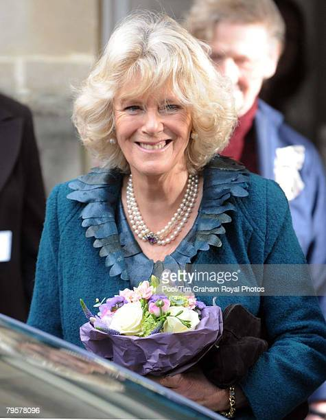 Camilla Duchess of Cornwall visits the newlybuilt Younger Persons NeuroRehabilitation Unit at The Royal National Hospital For Rheumatic Diseases on...