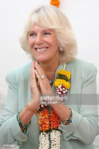 Camilla Duchess of Cornwall visits the Vandana Foundation on day 6 of an official visit to India on November 11 2013 in Mumbai India This will be the...