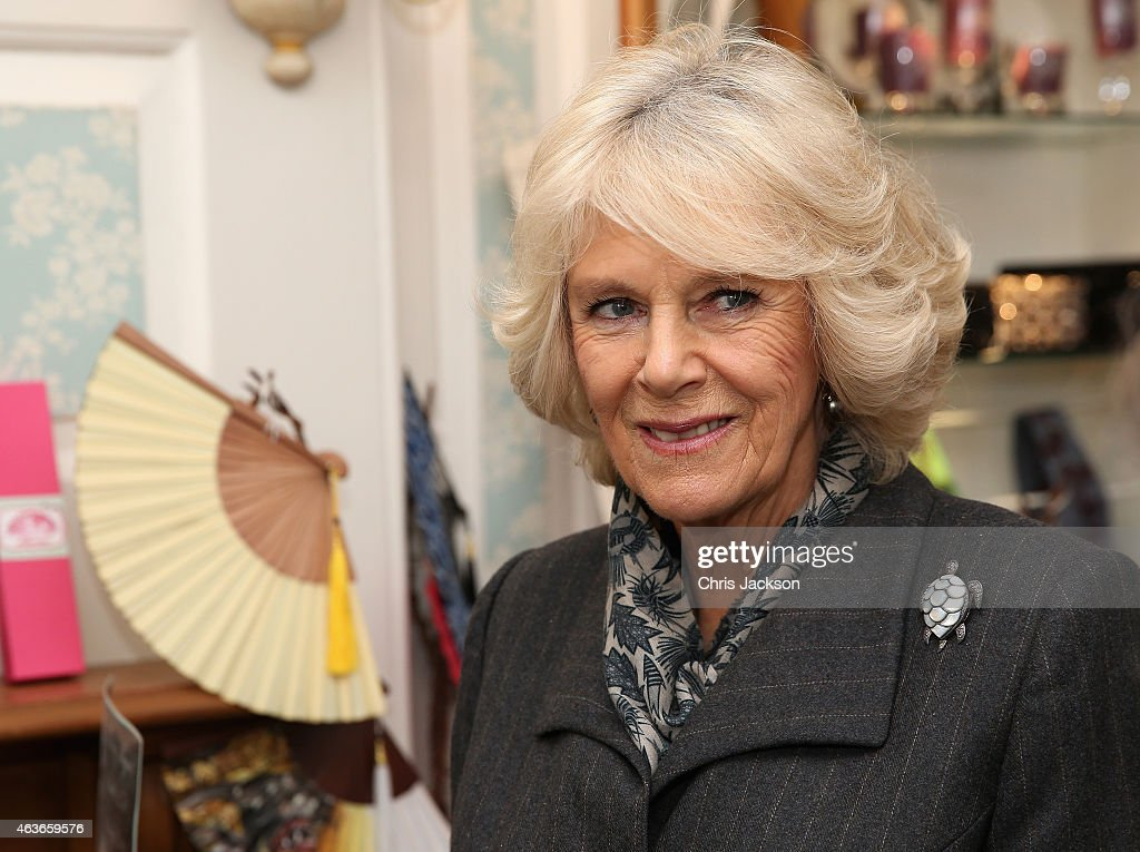 The Duchess Of Cornwall Visits The 'Waterloo Life And Times' Exhibition At The Fan Museum : News Photo