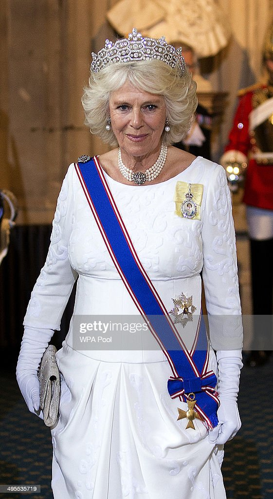 Queen Elizabeth II Attends The State Opening Of Parliament : Fotografia de notícias