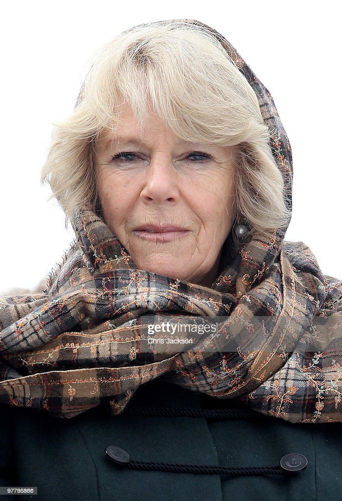 Camilla, Duchess of Cornwall watches a military display at the First Armoured Brigade Wesola on March 17, 2010 in Warsaw, Poland. Prince Charles, Prince of Wales and Camilla, Duchess of Cornwall are on a three day trip to Poland as part of a tour of Eastern Europe that takes in Poland, Hungary and the Czech Republic.