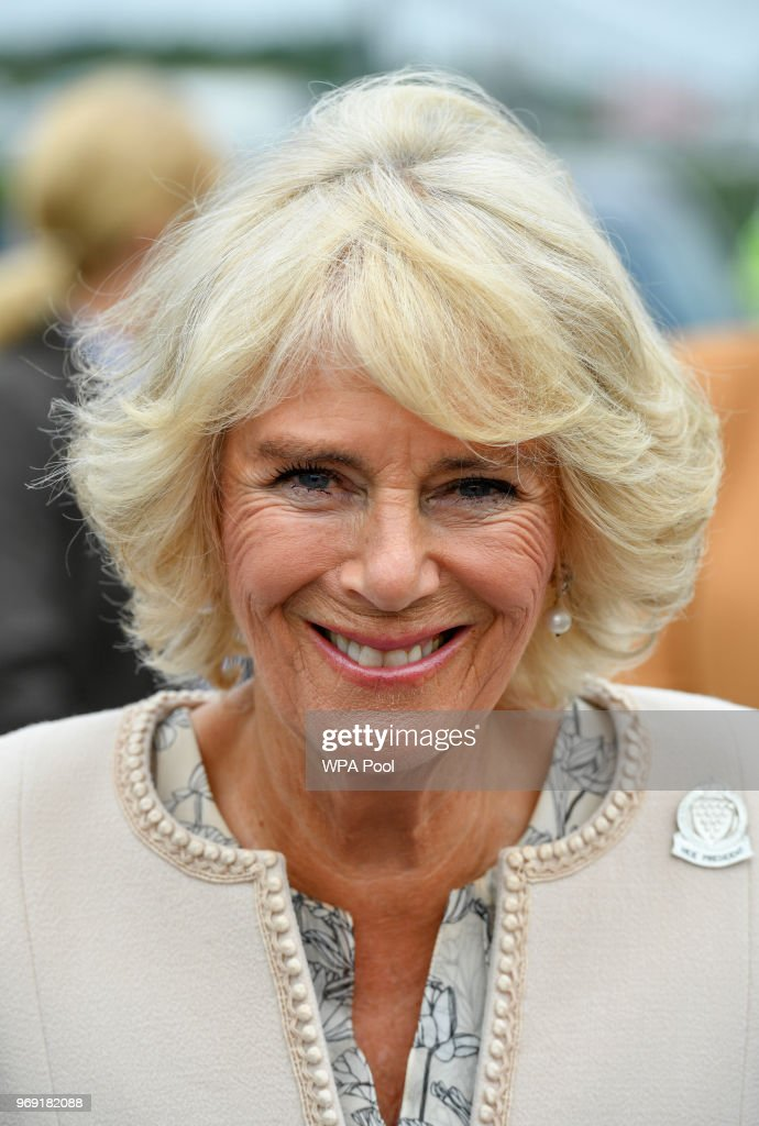 Camilla, Duchess of Cornwall, who is also Vice-President of the Royal Cornwall Agricultural Association attends the Royal Cornwall Show on June 07, 2018 in Wadebridge, United Kingdom.