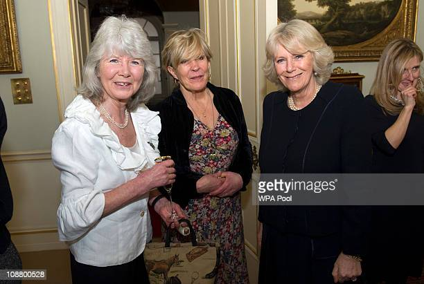 Camilla Duchess of Cornwall with Jilly Cooper and Candida Lycett Green Camilla Duchess of Cornwall Patron National Literacy Trust hosted a reception...