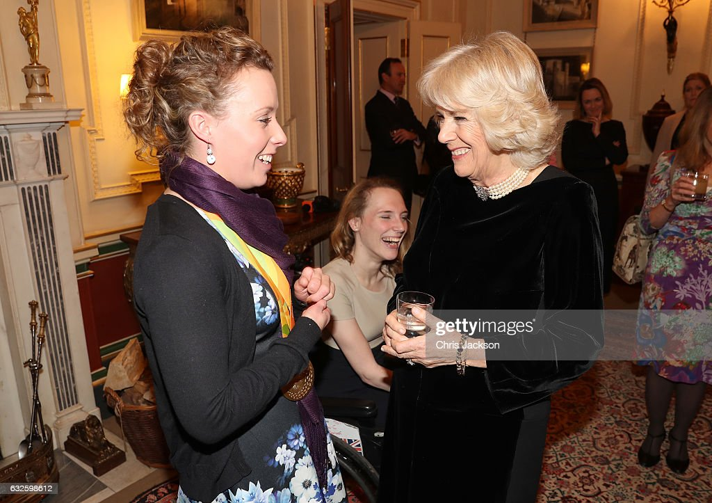 The Duchess Of Cornwall Hosts Reception For The British Equestrian Teams For The 2016 Olympic & Paralympic Games : News Photo